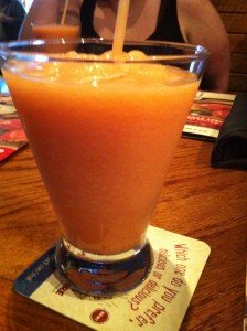 """Peach flavored frozen drink from Outback Steak House.  No real relation to the story.  It just popped in my head when I typed """"Well, I'll be damned."""""""