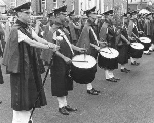 That's me on the left with the mace.