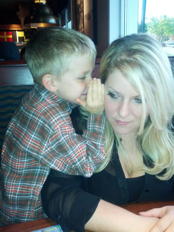 Nate's sixth birthday in 2013.  We were at Nate's choice of restaurant, Red Lobster, and Nate wanted to share something privately with his Mom, Beth.