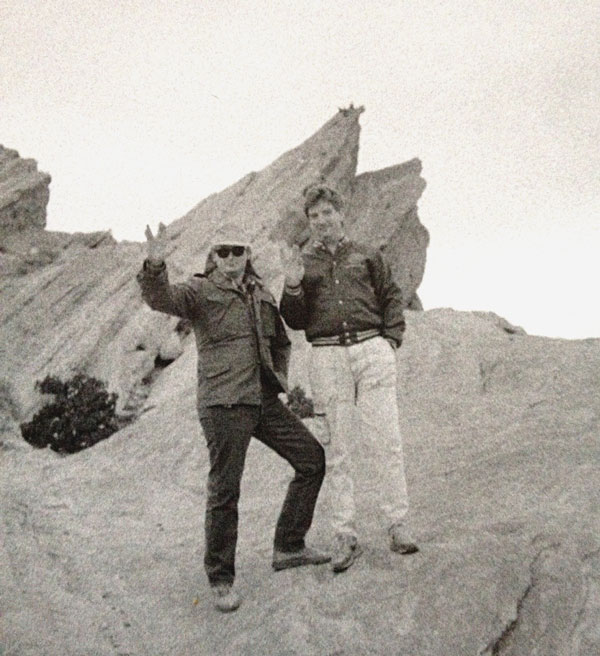 "Me (left) and Dan Wolfe at Vasquez Rocks near Los Angeles. ""Arena"" was filmed here."