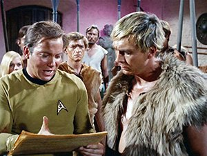 Kirk reads the Constitution to Cloud William.