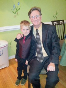 One year ago:  Nate dressed up for school in celebration of my first day on the job.