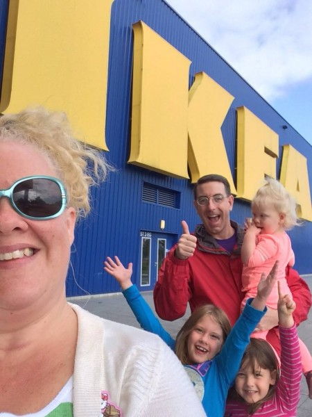 My brother, Jefferson, and his family at a German Ikea store which looks remarkably like the ones here in the U.S.
