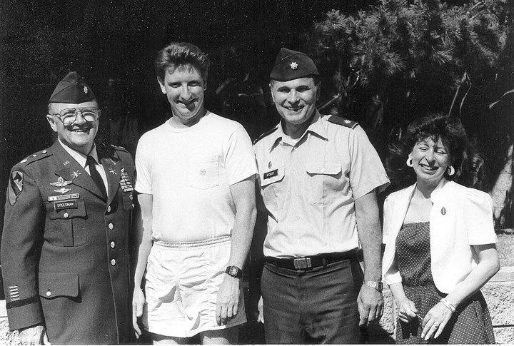 Lt. Col. Speedman, me, Lt. Col. Stan Kensic and Master Sgt. Jeanie West.