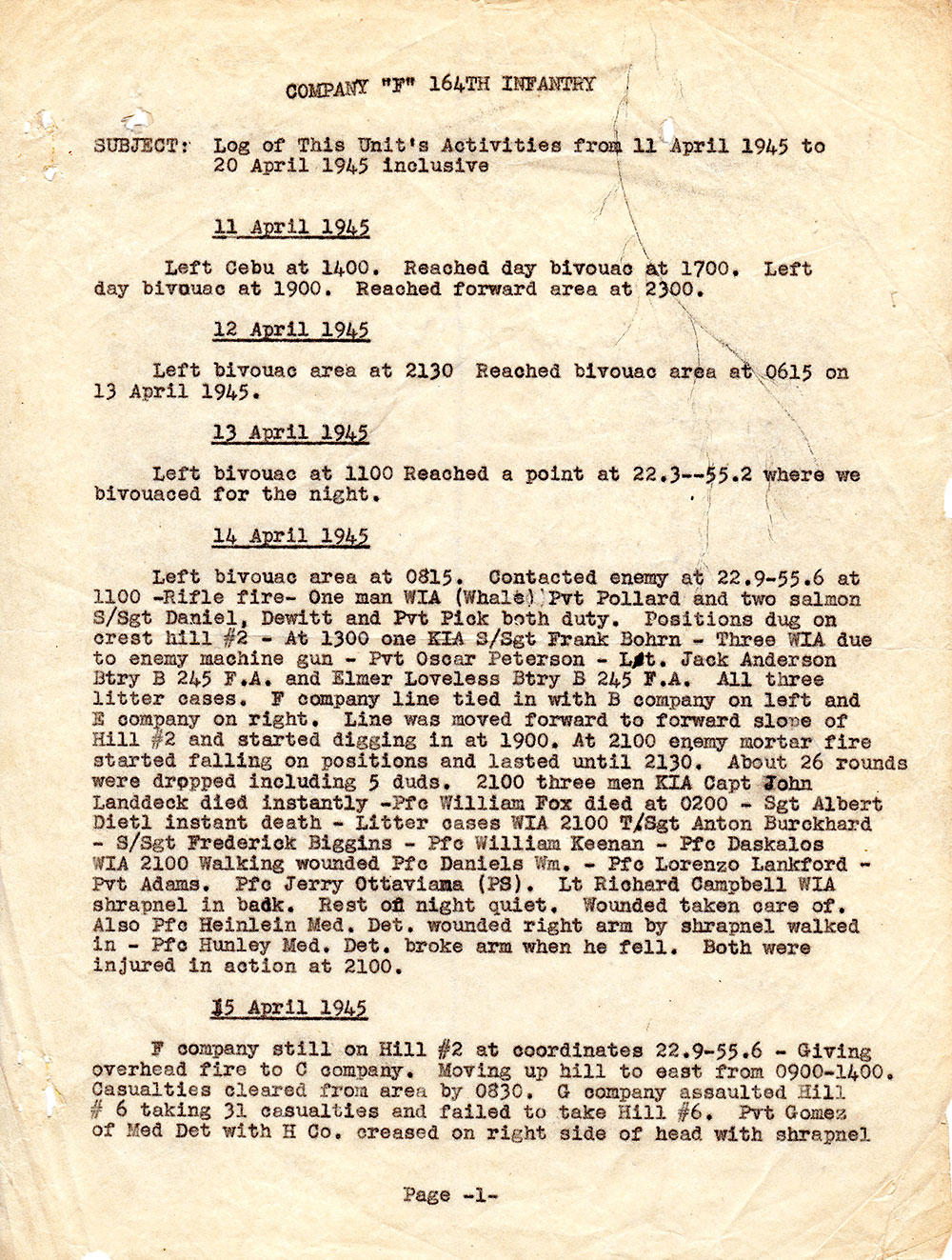19450411---WWII-Morning-Report_Page_1