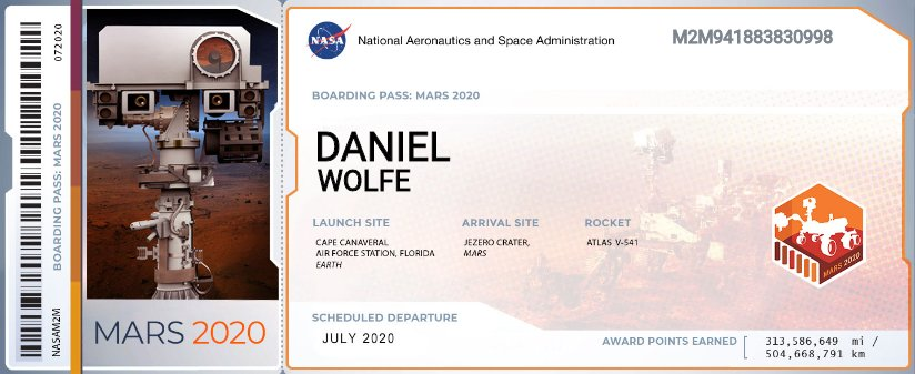 This image has an empty alt attribute; its file name is BoardingPass_MyNameOnMars2020-DW.png